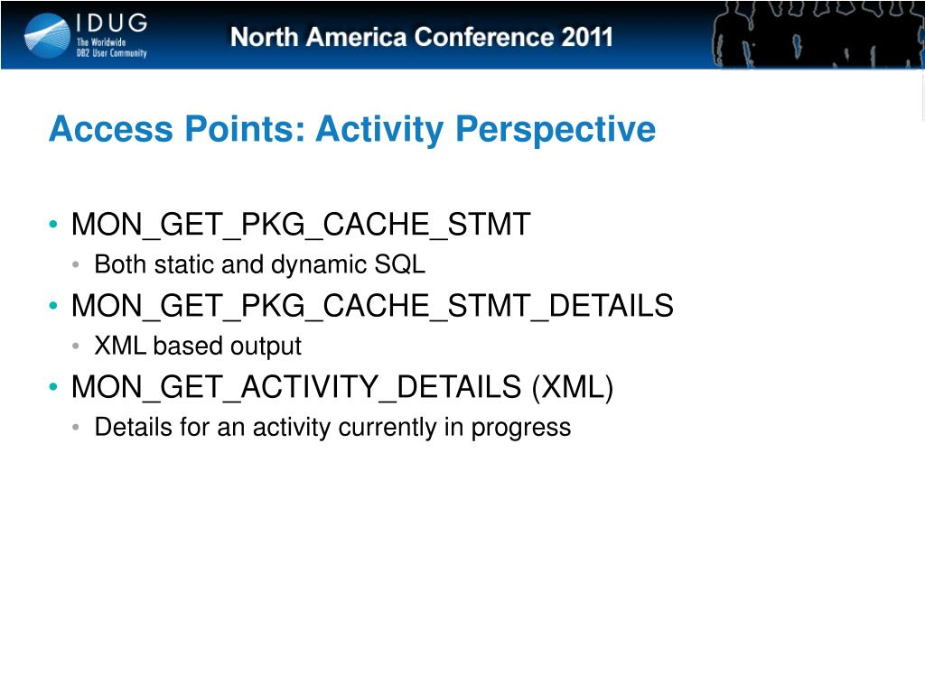 Access Points: Activity Perspective