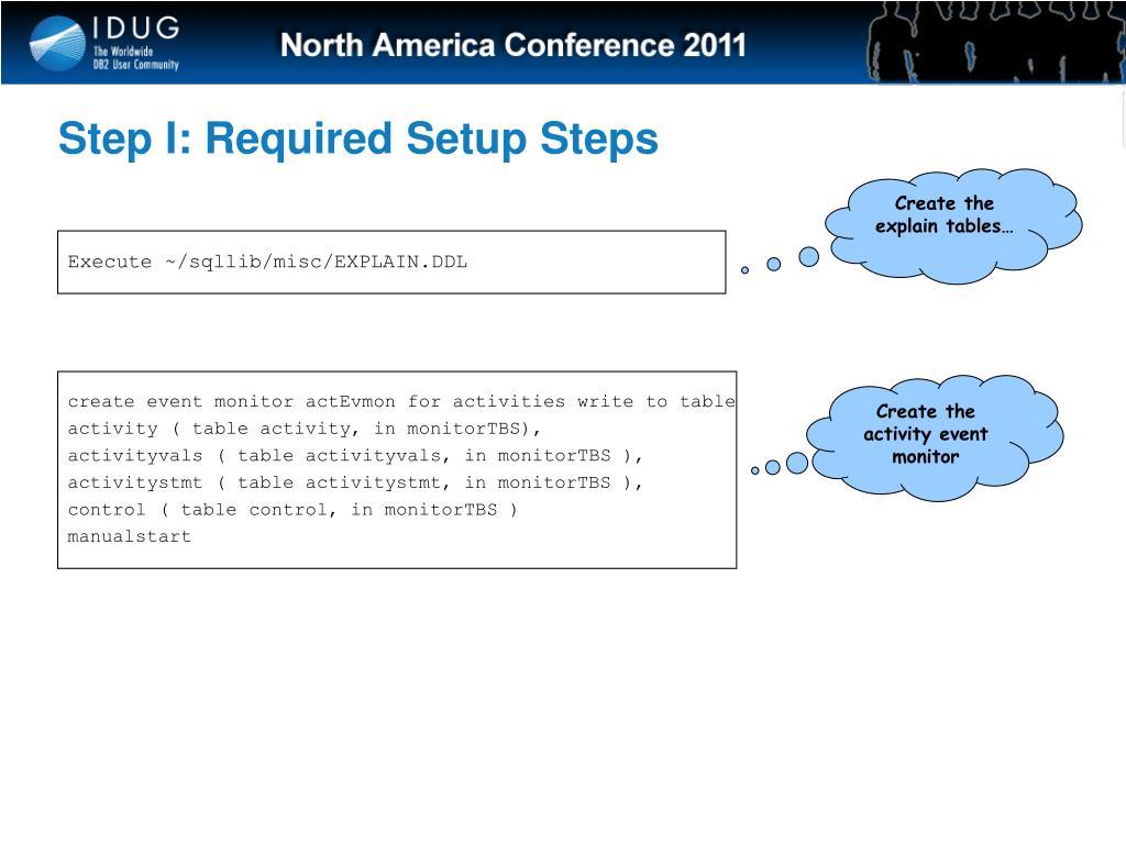 Step I: Required Setup Steps