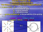 angular extension is inversely proportional to the distance between the spot irregularities a
