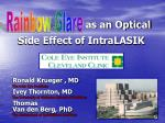 as an optical side effect of intralasik