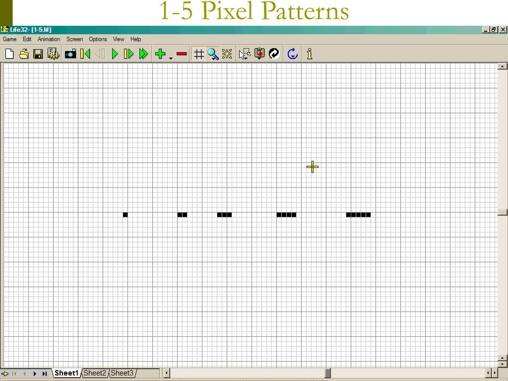 1-5 Pixel Patterns