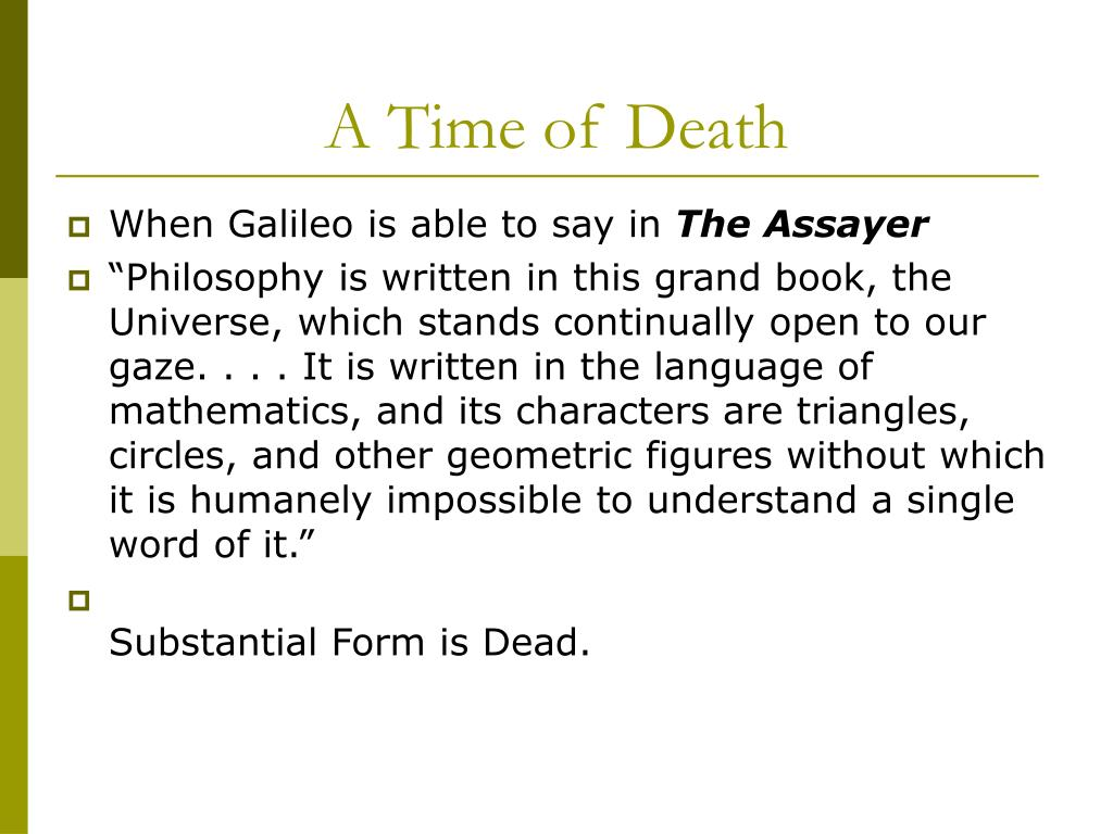 A Time of Death
