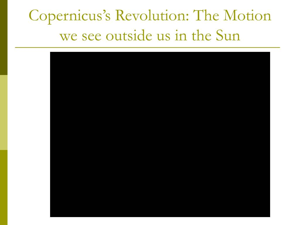 Copernicus's Revolution: The Motion we see outside us in the Sun