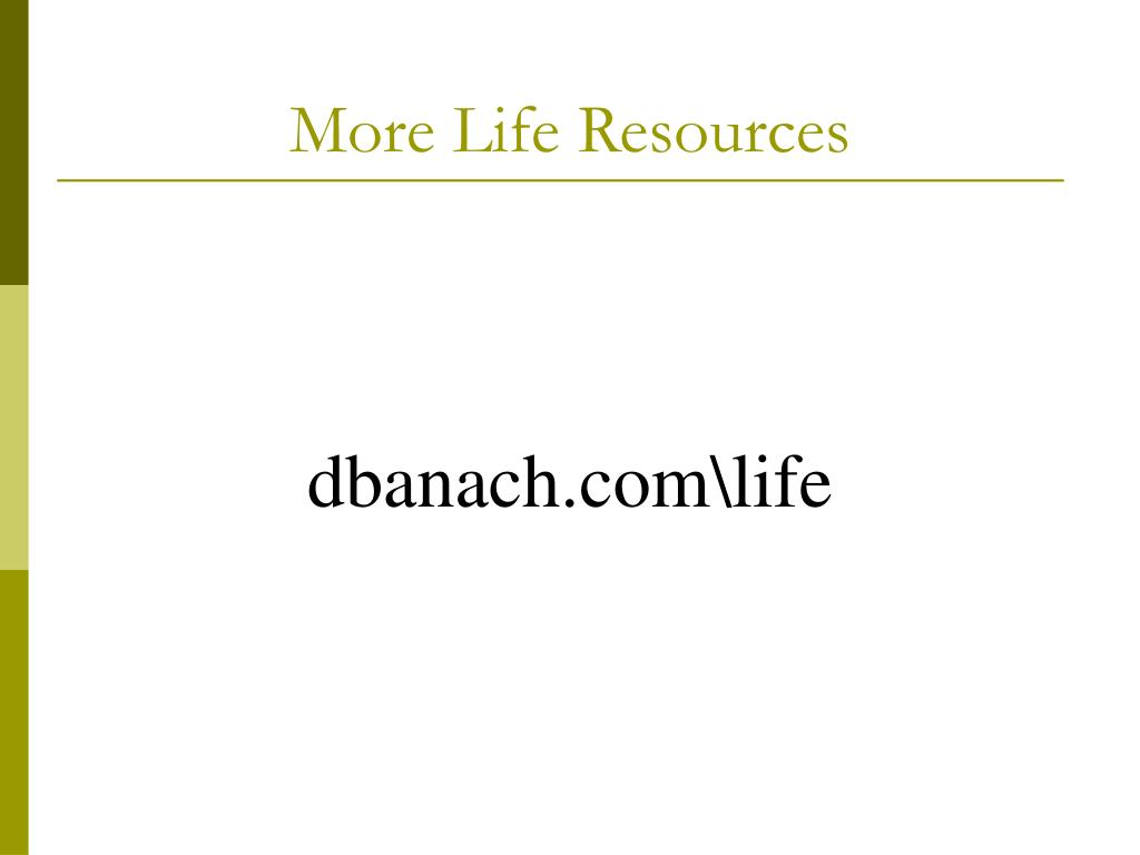 More Life Resources