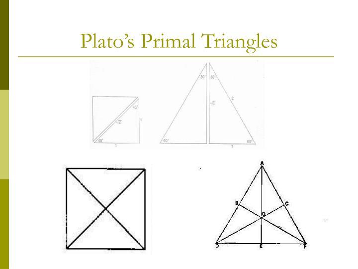 Plato s primal triangles