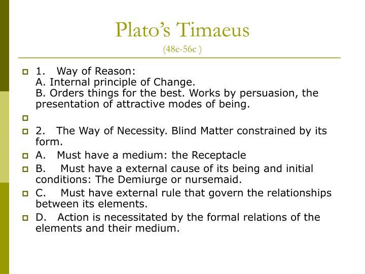Plato s timaeus 48e 56c