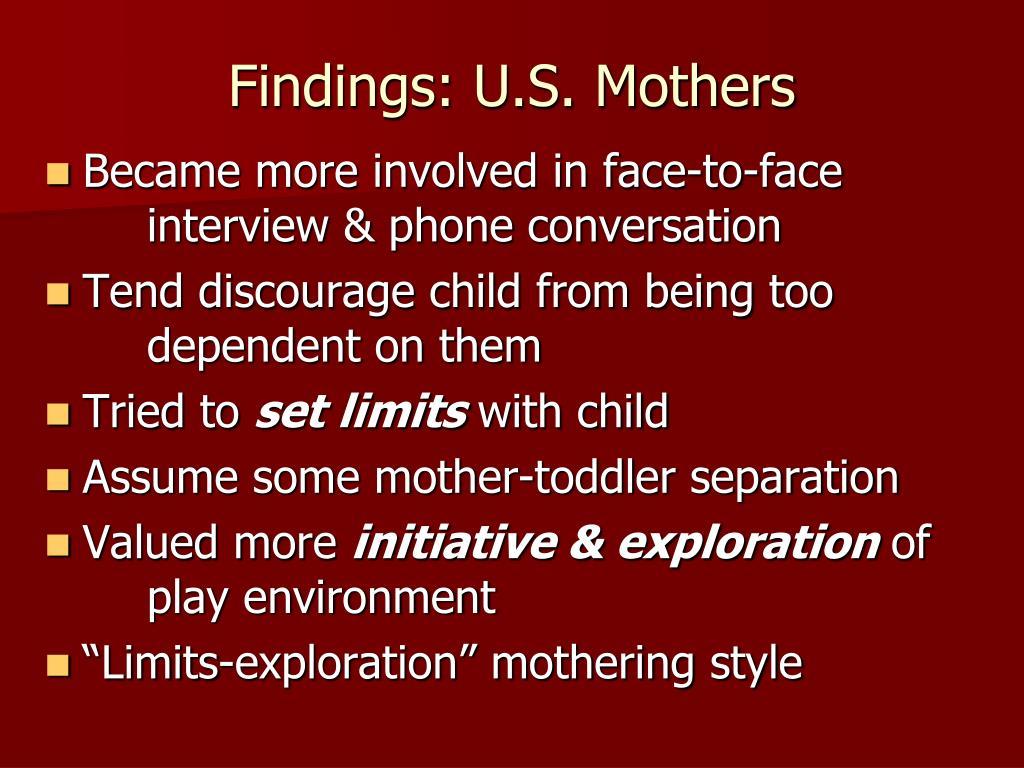 Findings: U.S. Mothers