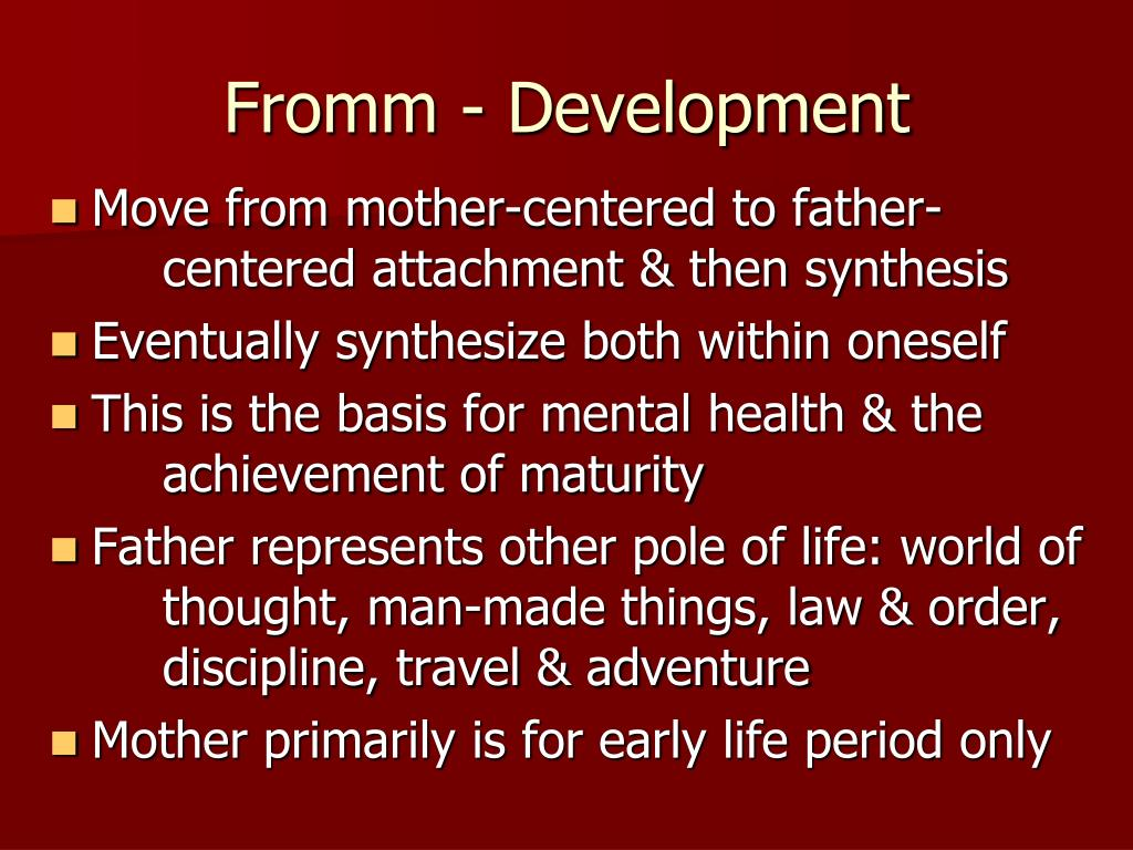 Fromm - Development