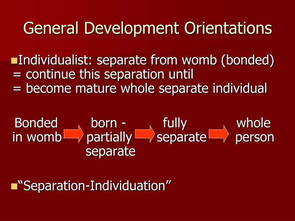 General Development Orientations