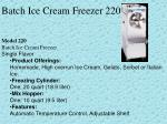 batch ice cream freezer 220