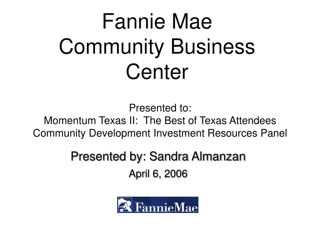 fannie mae community business center l.