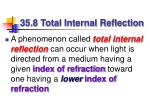 35 8 total internal reflection