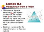 example 35 5 measuring n from a prism