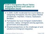 clbc s immigration round tables engaging business and labour on immigration issues