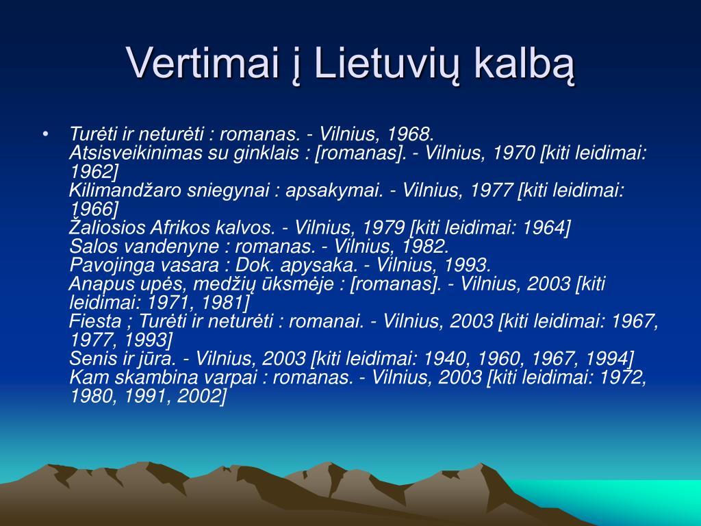 Vertimai į Lietuvių kalbą