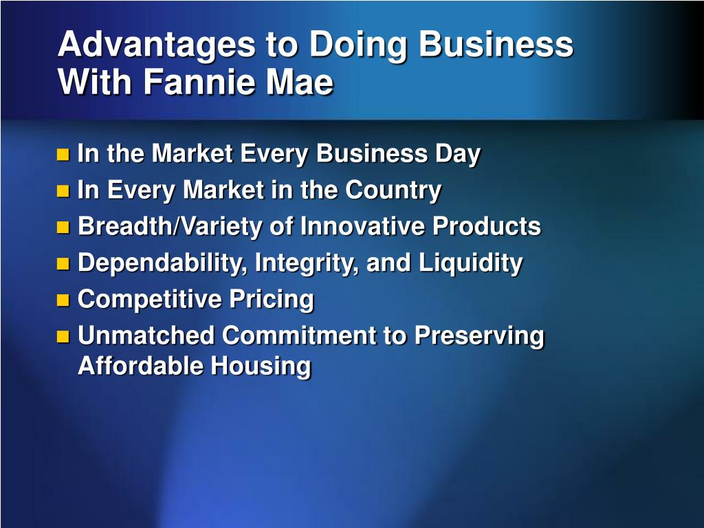 Advantages to Doing Business