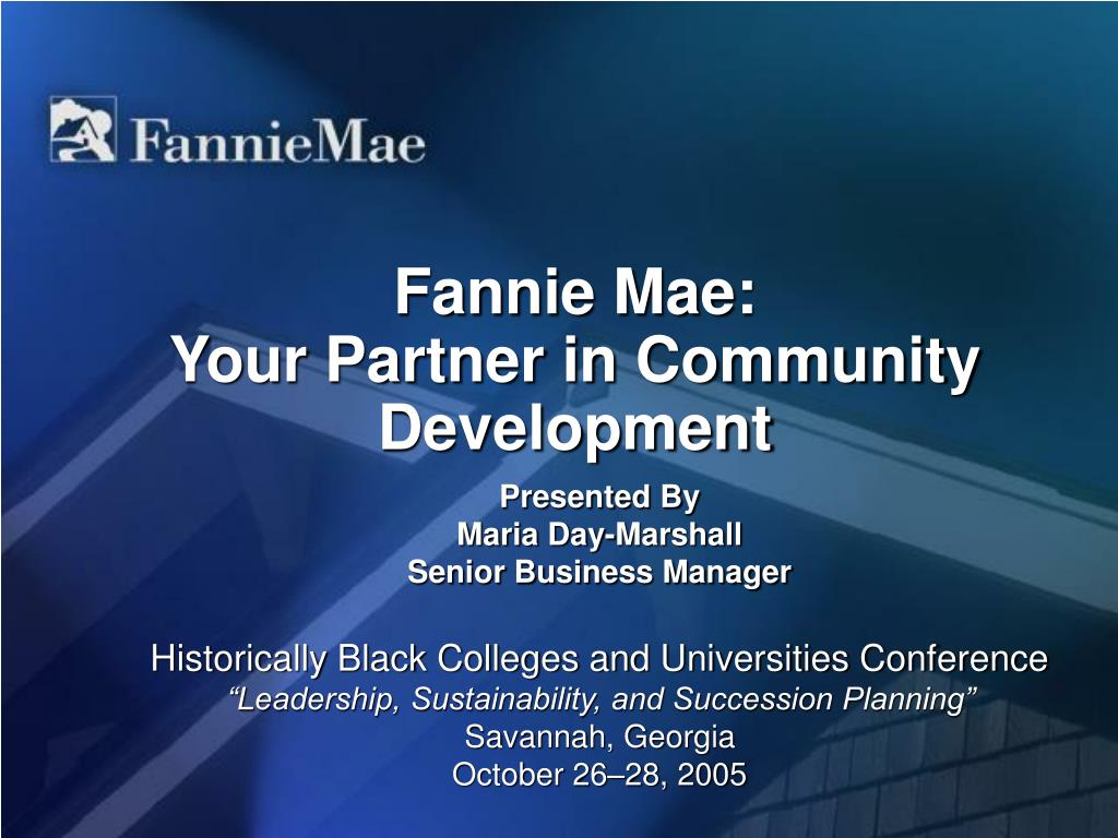 fannie mae your partner in community development l.