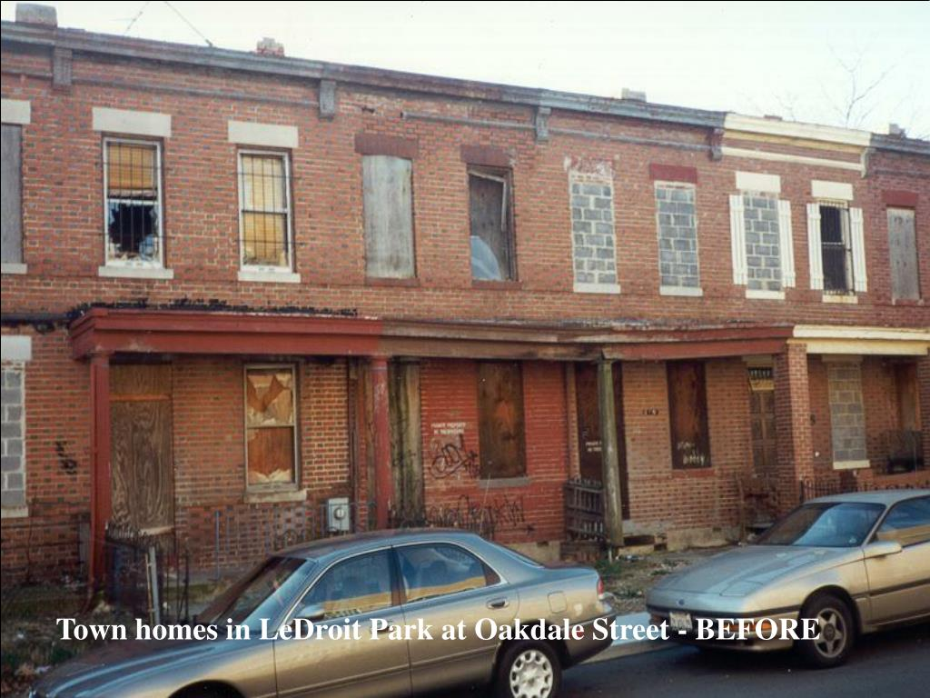 Town homes in LeDroit Park at Oakdale Street - BEFORE