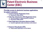 patent electronic business center ebc