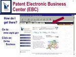 patent electronic business center ebc3