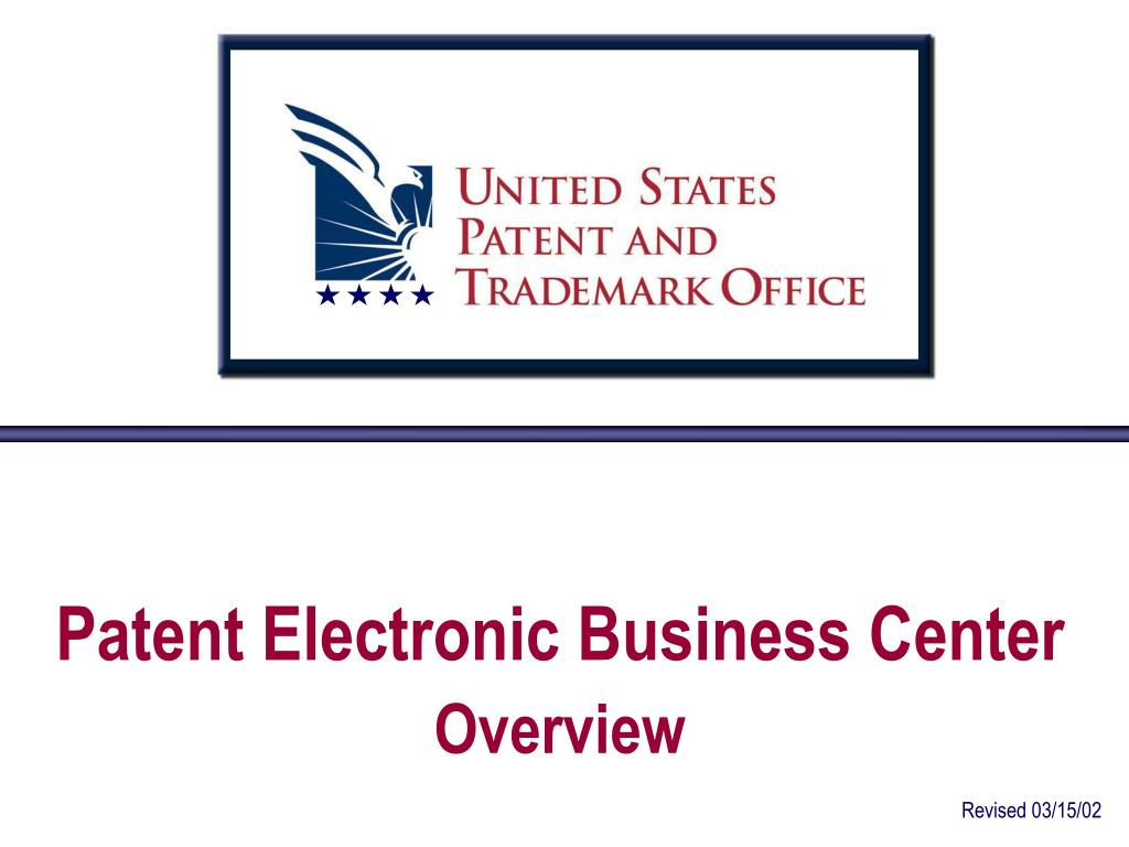 patent electronic business center overview l.