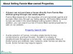 about selling fannie mae owned properties