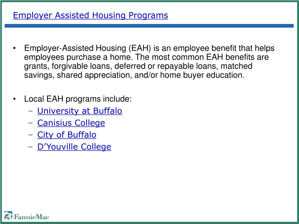 Employer Assisted Housing Programs