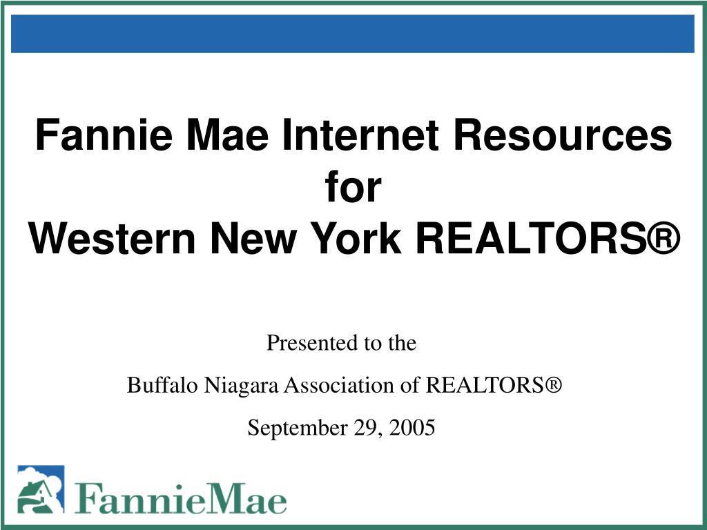 fannie mae internet resources for western new york realtors l.
