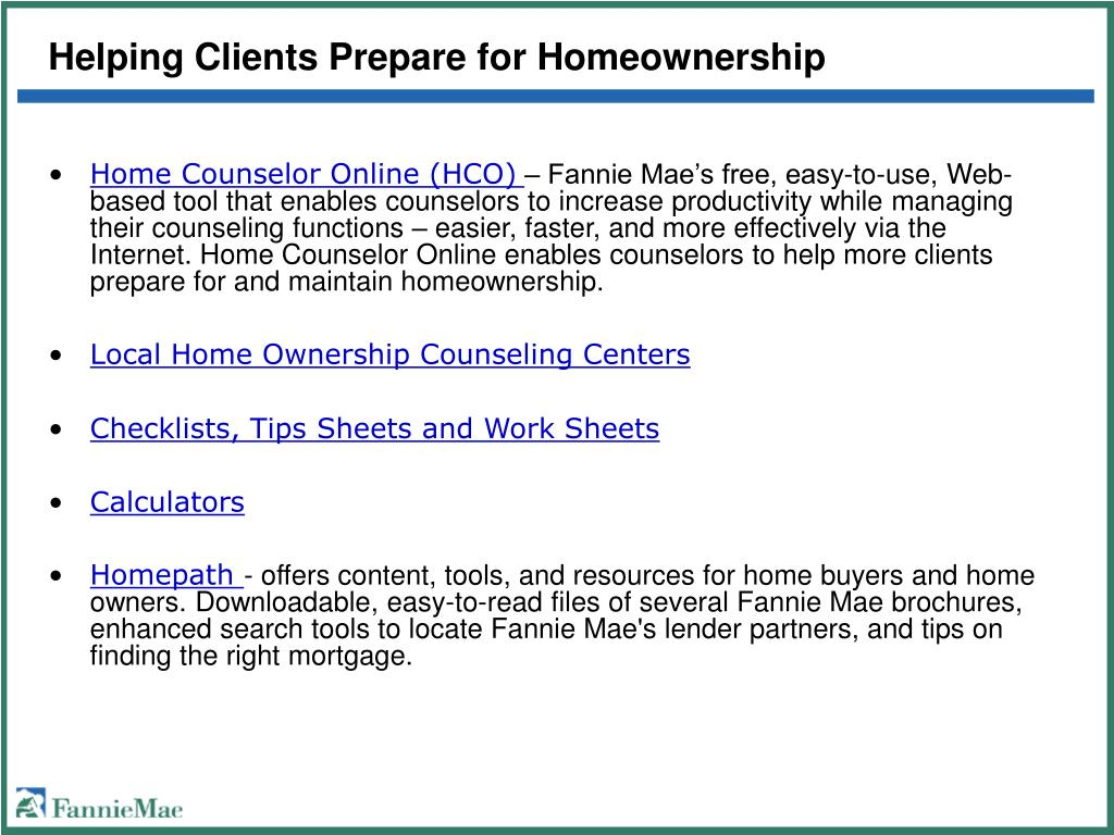 Helping Clients Prepare for Homeownership