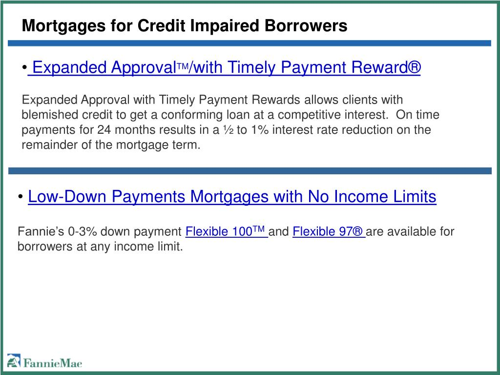 Mortgages for Credit Impaired Borrowers