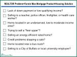realtor problem fannie mae mortgage product housing solution