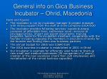 general info on gica business incubator ohrid macedonia