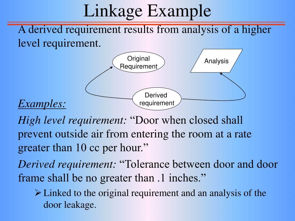 Linkage Example