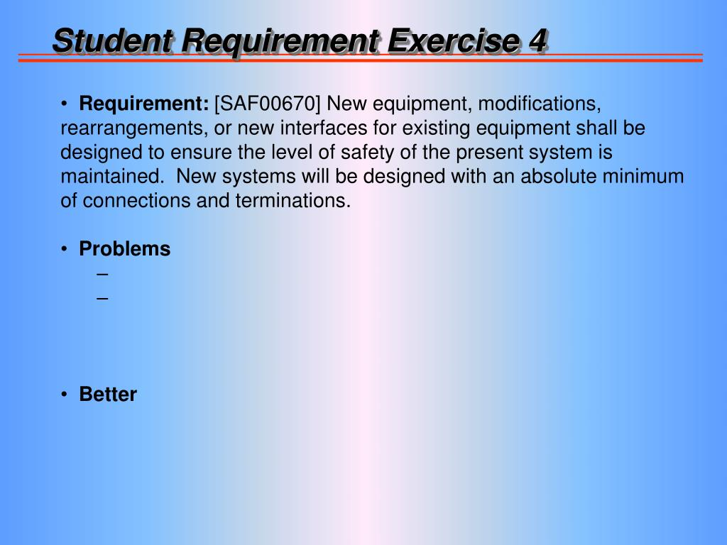 Student Requirement Exercise 4