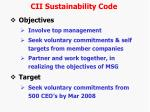 cii sustainability code