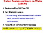 indian business alliance on water ibaw