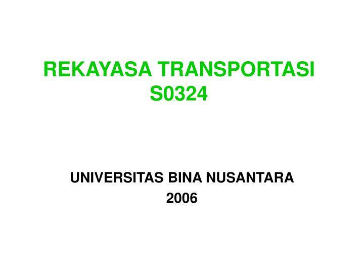 Rekayasa transportasi s0324