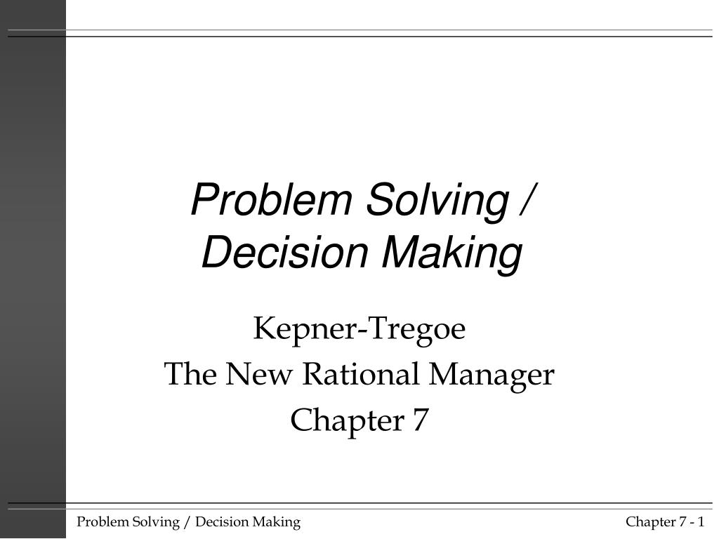 PPT - Problem Solving / Decision Making PowerPoint Presentation - ID ...