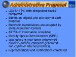 administrative proposal