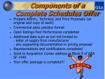 components of a complete schedules offer