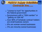 federal supply schedules contracts are