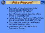 price proposal