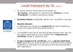 local transport by sl cont