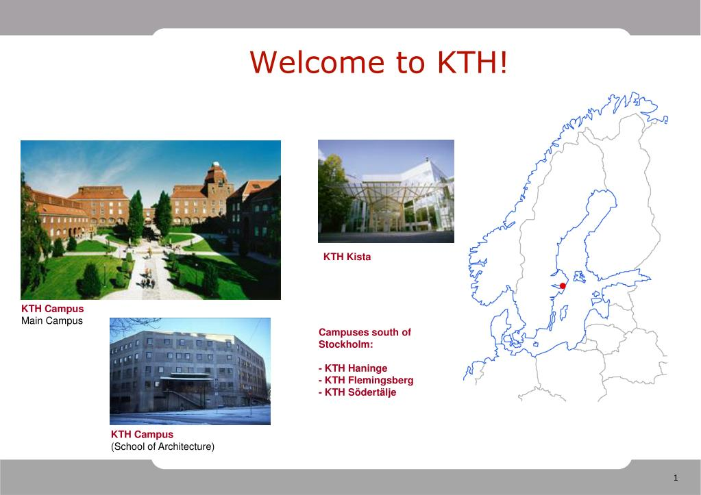 welcome to kth l.