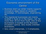 economic environment of the centre5