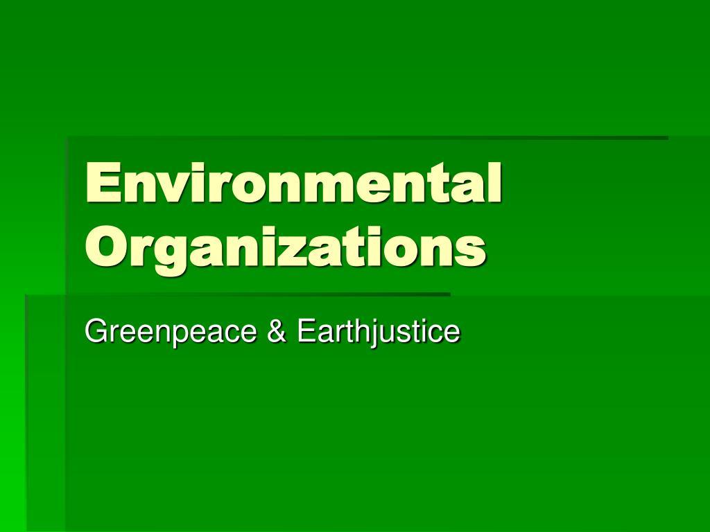 environmental organizations l.