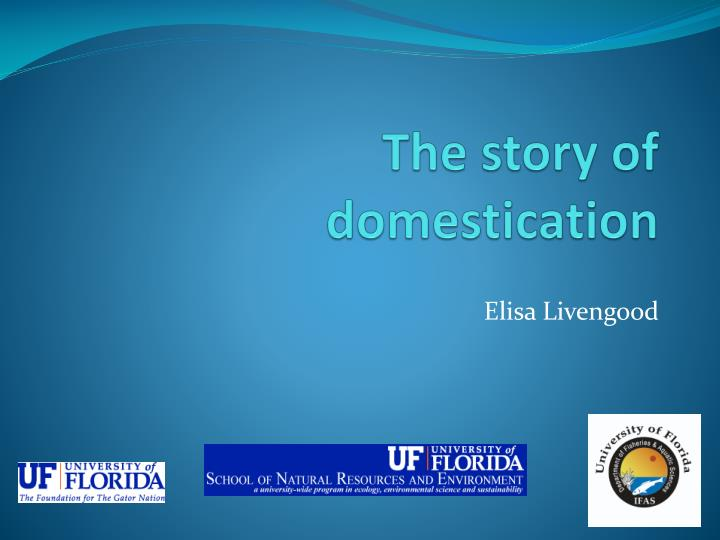 the story of domestication n.