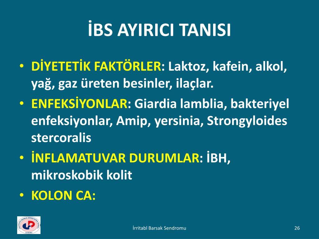 İBS AYIRICI TANISI