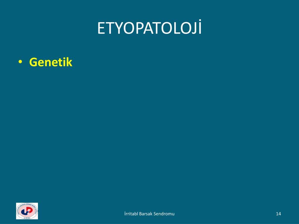 ETYOPATOLOJİ