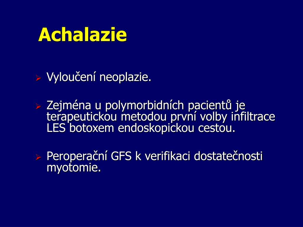 Achalazie